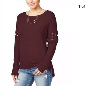 Burgundy sweater that is amazing so cute.